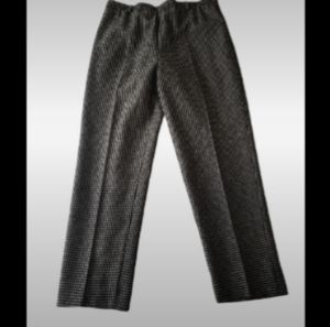 Alfred Dunner Black/W houndstooth trouser …